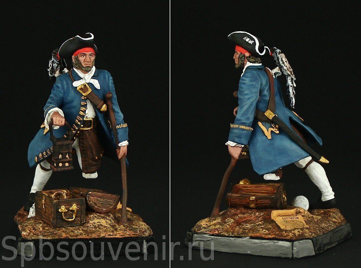 Captain William Kidd 54 mm Tin soldier figure