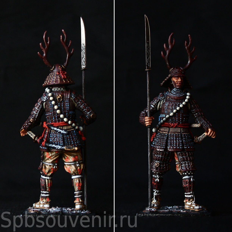 Samurai with Yari Spear, 1600 MEDIEVAL JAPAN COLLECTIBLE ...